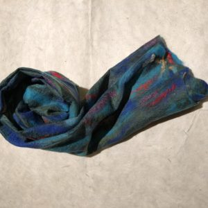 Felted Wool on Silk Scarves